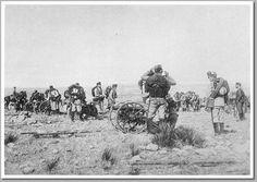 La zona de Melilla siempre fue inestable. En la imagen, una batería de montaña en 1893 en las cercanías de la ciudad. Imagen, Manuel Company.