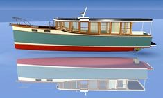 Efficient Cruiser Hull House, Motor Cruiser, The Wheelhouse, Classic Wooden Boats, Deck Boat, Wooden Boat Building, Boat Projects, Houseboats, Boat Design