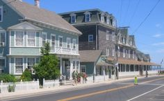 The Surf Hotel and Blue Dory Bed and Breakfast both have prime locations on Block Island, Rhode Island. They are just a few hundred yards from the ferry landing and both back to Crescent Beach.