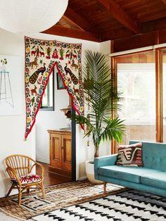 from sarahgreenman.com/blog  boho house interior