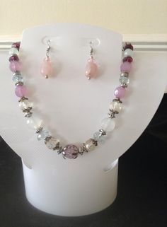 delicate shades of pink necklace