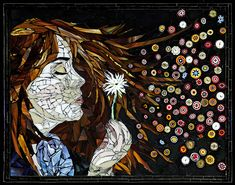 Evolution of Wish – mosaic-art melonheadgallery, Laura Harris – Mosaic Artist