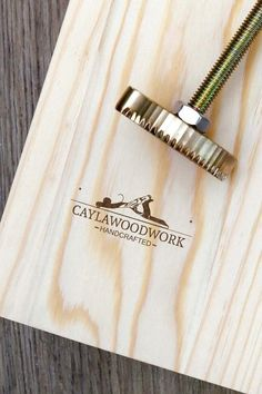 Custom Wood Branding Iron/ Gift for woodworkers/Gift for Dad / Gift for men/wood branding tool / leather branding iron gifting - wood working gifts Woodworking For Kids, Cool Woodworking Projects, Diy Wood Projects, Woodworking Plans, Wood Crafts, Woodworking Shop, Woodworking Inspiration, Lathe Projects, Woodworking Workshop