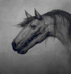 Horse, Maxim Verehin on ArtStation at https://www.artstation.com/artwork/Ba806