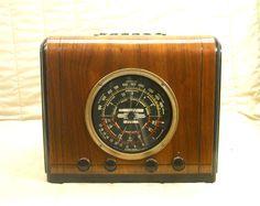 Old Antique Wood Stewart Warner Vintage Tube Radio - Restored Working Magic Dial