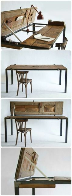 alte möbel restaurieren tischplatte alte tür