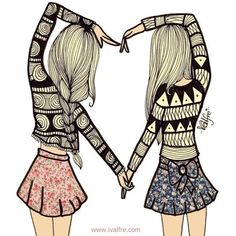 Best friends trouble Girlscene ❤ liked on Polyvore featuring fillers, backgrounds, drawings, pictures, sketches, doodles, quotes, text, effects and phrase