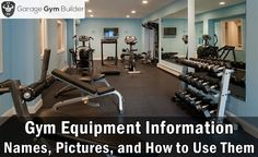 awesome Gym Equipment Names and Pictures