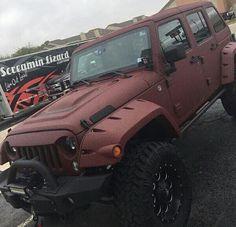 Matte Burgundy Jeep