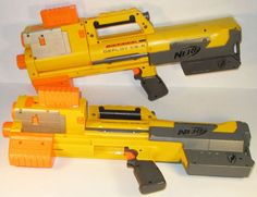 Nerf N-Strike Deploy CS-6 lot of 2w/ 4 clips Light Built-in Sight Tested No  Ammo