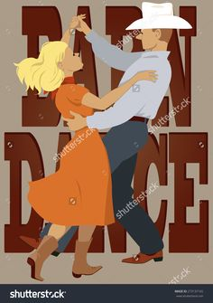 stock-vector-couple-dressed-in-country-western-style-dancing-polka-lettering-barn-dance-on-the-background-273137165.jpg (1125×1600)