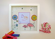 Baby photo frame - Blossomed by PaperDartSHOP on Etsy