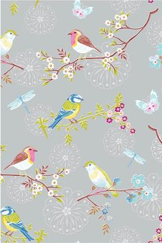 Wallpaper With Birds lovely wallpaper | accessoires | pinterest | däck