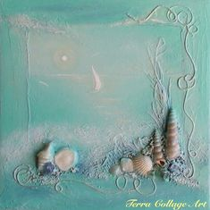 Ocean+Dream+Original+Mixed+Media+Art+by+TerraArtGallery+on+Etsy