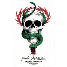 Powell Peralta Mike McGill Skull & Snake Sticker