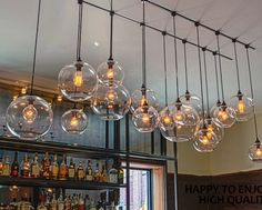 Retro DIY Ceiling Lamp Light Glass Pendant Lighting Edison Bulb Home Bar Club