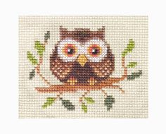 OWL in a Tree ~ Bird, Complete counted cross stitch kit