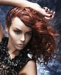 long red wavy coloured messy womens hairstyles for women Medium Short Hair, Medium Hair Styles, Hair Styles 2014, Copper Hair, Homecoming Hairstyles, Plaits, Messy Hairstyles, Redheads, Curly