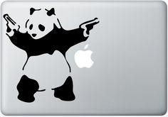 panda macbook decals mac decal macbook pro decal macbook air decals ipad iphone 1 2 3 4 5 stickers decal mac apple stickers. $6.99, via Etsy.