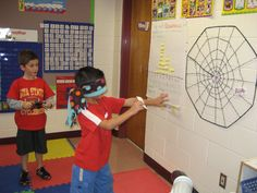 """Pin the Spider on the Web  Bought a dollar store """"web"""".  Printed out/cut """"spider"""" clip art.  Blind fold and go!"""
