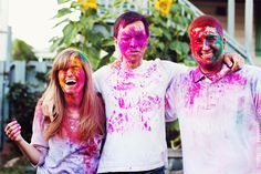 Fabulously Wed: Engagement: Holi Moly It's a Color Explosion!