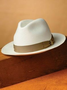 Our traditional fedora style Borsalino classic Panama hat is shaped from  Equadorian woven Panama fine ala media. 82599297e50