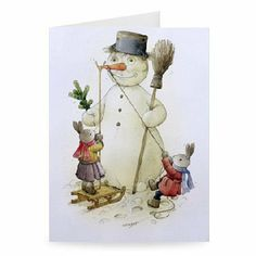 Snowman and Hares, 1999 (w/c on paper) by.. - Greeting Card (Pack of 2) - 7x5 inch - Art247 - Standard Size - Pack Of 2 by Art247. $6.50. This photographic Greeting Card is created on 300gsm FSC approved card. The result - a stunning reproduction at an affordable price. Actual size 7x5 inch.Greeting card comes with high grade white envelope as standard.This is an automated preview only. Actual Greeting Card design may vary. All products are hand finished by our expe...