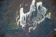 Gibson Desert, Australia. From the ISS. Taken by astronaut Karen Nyberg