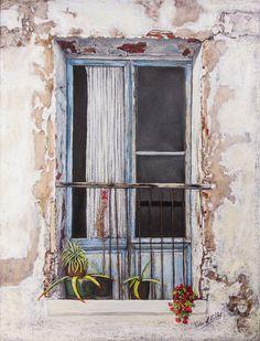 Pilar S. Robles. Balcón de Peñíscola. Pastel. 81x66.
