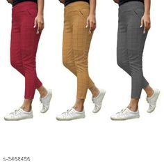 Jeggings Fashionable Lycra Women's Jeggings (Pack Of 3) Fabric: Lycra Size: Up To 28 in To 34 in ( Free Size ) Length: Up To 38 in Type: Stitched Description: It Has 3 Pieces Of Women's Jeggings Pattern:  Checkered Country of Origin: India Sizes Available: Free Size, 28, 30, 32, 34, 36 *Proof of Safe Delivery! Click to know on Safety Standards of Delivery Partners- https://ltl.sh/y_nZrAV3  Catalog Rating: ★4 (5278)  Catalog Name: Athena Fashionable Lycra Women'S Jeggings Combo Vol 18 CatalogID_482677 C79-SC1033 Code: 195-3468456-