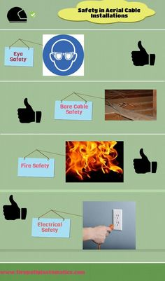 An infographic for your safety from cables...