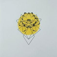 Waterlily geometric drawing