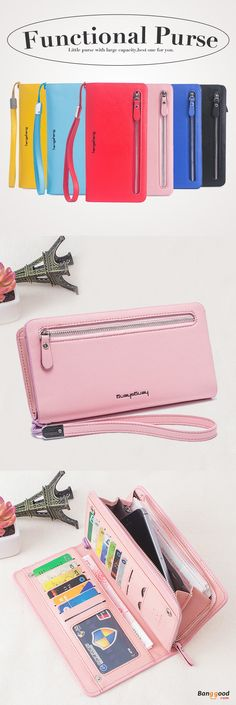 US$13.6+Free shipping. Functional Purse, Casual Clutch Card Holder Wallet Purse, Color: Red, Black, Sky Blue, Pink, Blue.