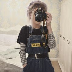 My favorites favorites grungefashion my mode Mode Outfits, Winter Outfits, Fashion Outfits, Casual Outfits, 90s Fashion Overalls, Fashion Ideas, Black Outfits, Dress Fashion, Fashion Tips