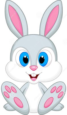 cute bunny cartoon png clip art image voda kindergarten rh pinterest com cute baby bunny clipart cute rabbits clipart