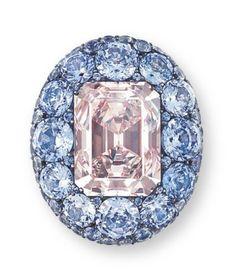 An Unique Coloured Diamond, Sapphire and Diamond Ring, by JAR Jar Jewelry, High Jewelry, Jewelry Rings, Jewellery, Crown Jewels, Diamond Are A Girls Best Friend, Colored Diamonds, Blue Diamonds, Beautiful Rings