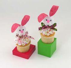 Spring Cupcake Topper - Foam Bunnies