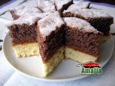 Prajtura Zi si noapte este una din prajiturile simple si bune pe care le facea mama cand eram mica. Merita sa incercati si voi aceasta reteta de prajitura. Sweets Recipes, Cooking Recipes, Romanian Desserts, Facebook Recipe, Tiramisu, Food To Make, Sweet Treats, Cheesecake, Muffin