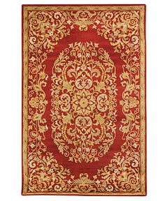 "MANUFACTURER'S CLOSEOUT! Safavieh Area Rug, Heritage HG640C Red 8' 3"" x 11' - Shop All Sizes - Rugs - Macy's"