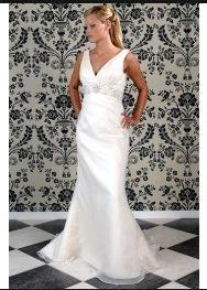 Robe de Mariée Classique Fourreau Col en V wd0108