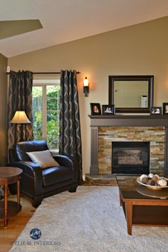 The Best Benjamin Moore Paint Colours for a North Facing / Northern Exposure Room Northampton Putty Slate Fireplace Surround, Paint Fireplace, Fireplace Surrounds, Fireplace Update, Fireplace Ideas, Best Paint Colors, Bedroom Paint Colors, Paint Colors For Living Room, Paint Colours