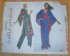VPO 1780 Emanuel Ungaro Evening Kimono Look FF Sz14/36 Wow! Mr. Ungaro has designed a kimono look with careful fitting, back zipper & built-in obi sash to wear as a tunic over slacks or evening length. sld 49.99+3 8/15/16 FF