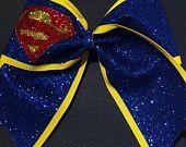 3in. Glitter Superman Superhero Cheer Bow
