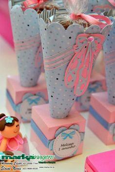 Uma linda decoração de bailarinas rosa e azul foi o tema escolhido pela mamãe Cássia para comemorar o 1º aninho da Fofaaaa da Melissa...Ad...