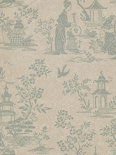 DecoratorsBest - Detail1 - CL AB721 - Chinese Garden - Stone - Wallpaper - DecoratorsBest - Clarence House