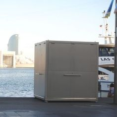 Information kiosk / commercial / stainless steel - CUVE ® - ESTEVA BARCELONA