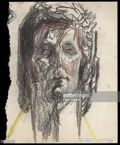 Welsh singer Tom Jones circa 1970 A sketch by Polishborn British expressionist Feliks Topolski