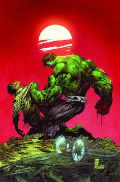 Banner vs Hulk by Marc Silvestri