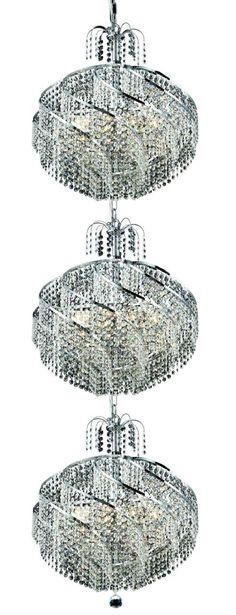 Spiral 30 Light Crystal (Clear) Chandelier in Chrome Finish 8052G22C/EC