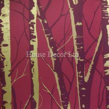 Prestigious  Textiles  Birch Wallpaper - Fushia 1904/238